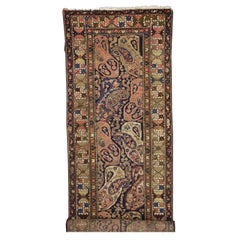 Antique Persian Malayer Runner with Boteh Design, Extra-Long Hallway Runner