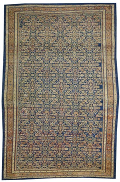 Antique Persian Mahal Ziegler Sultanabad Rug with Rustic Italian Cottage Style
