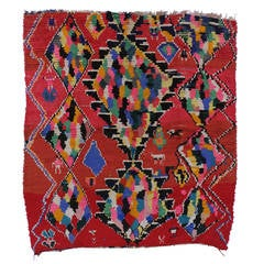 Vintage Berber Moroccan Rug with Contemporary Abstract Tribal Design