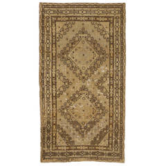 Vintage Khotan Gallery Rug from Turkestan with Modern Design in Neutral Colors