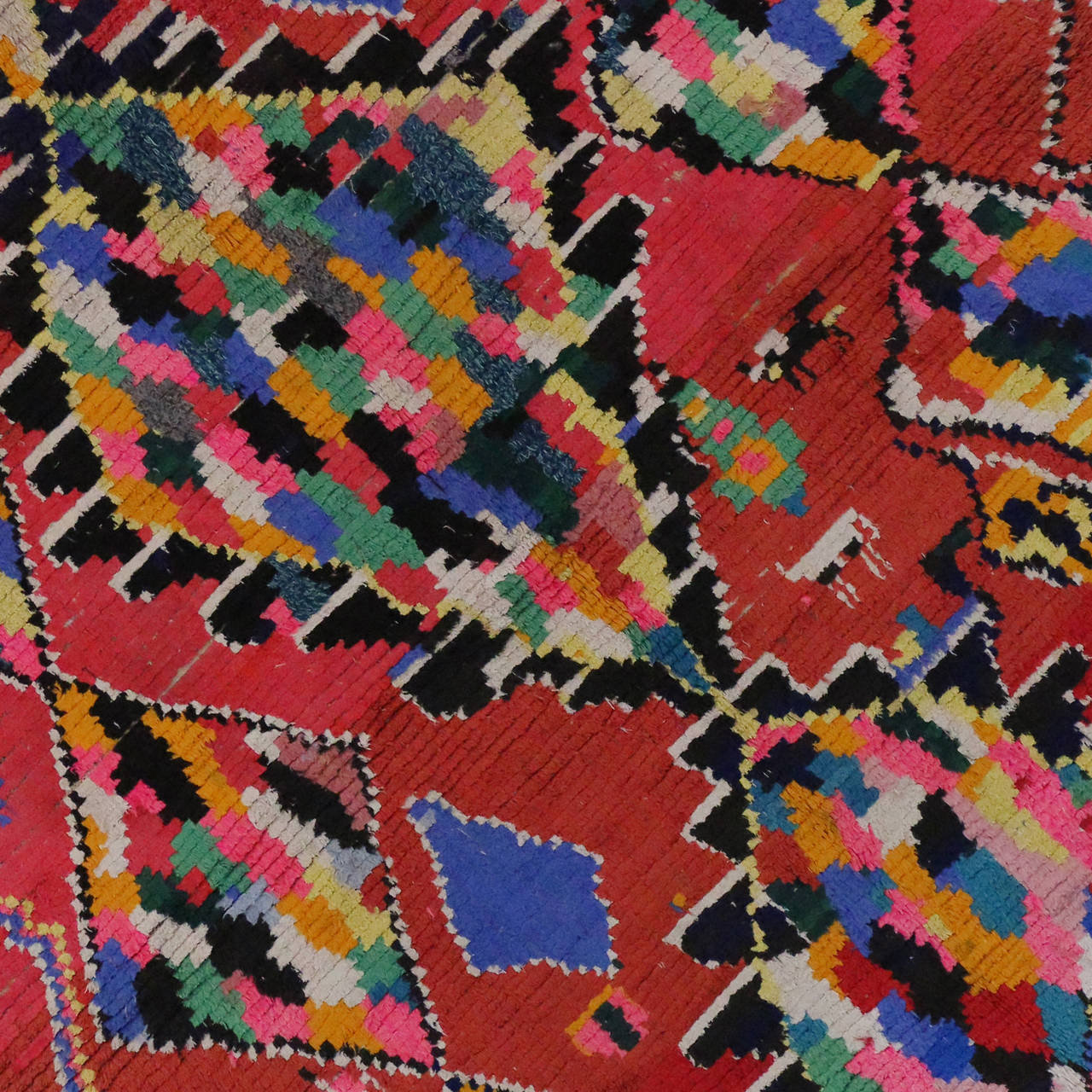 Vintage Berber Moroccan Rug With Contemporary Abstract