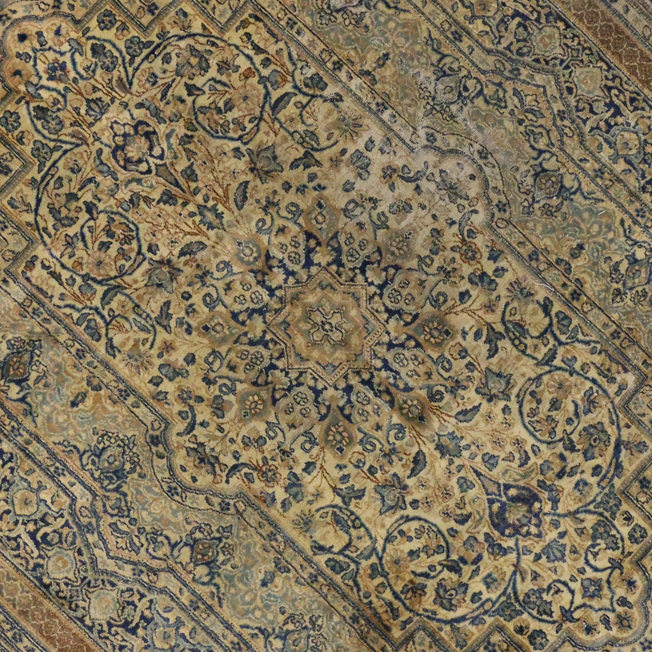 Antique Persian Kerman Area Rug with Hollywood Regency Style, Persian Kirman Rug For Sale 1