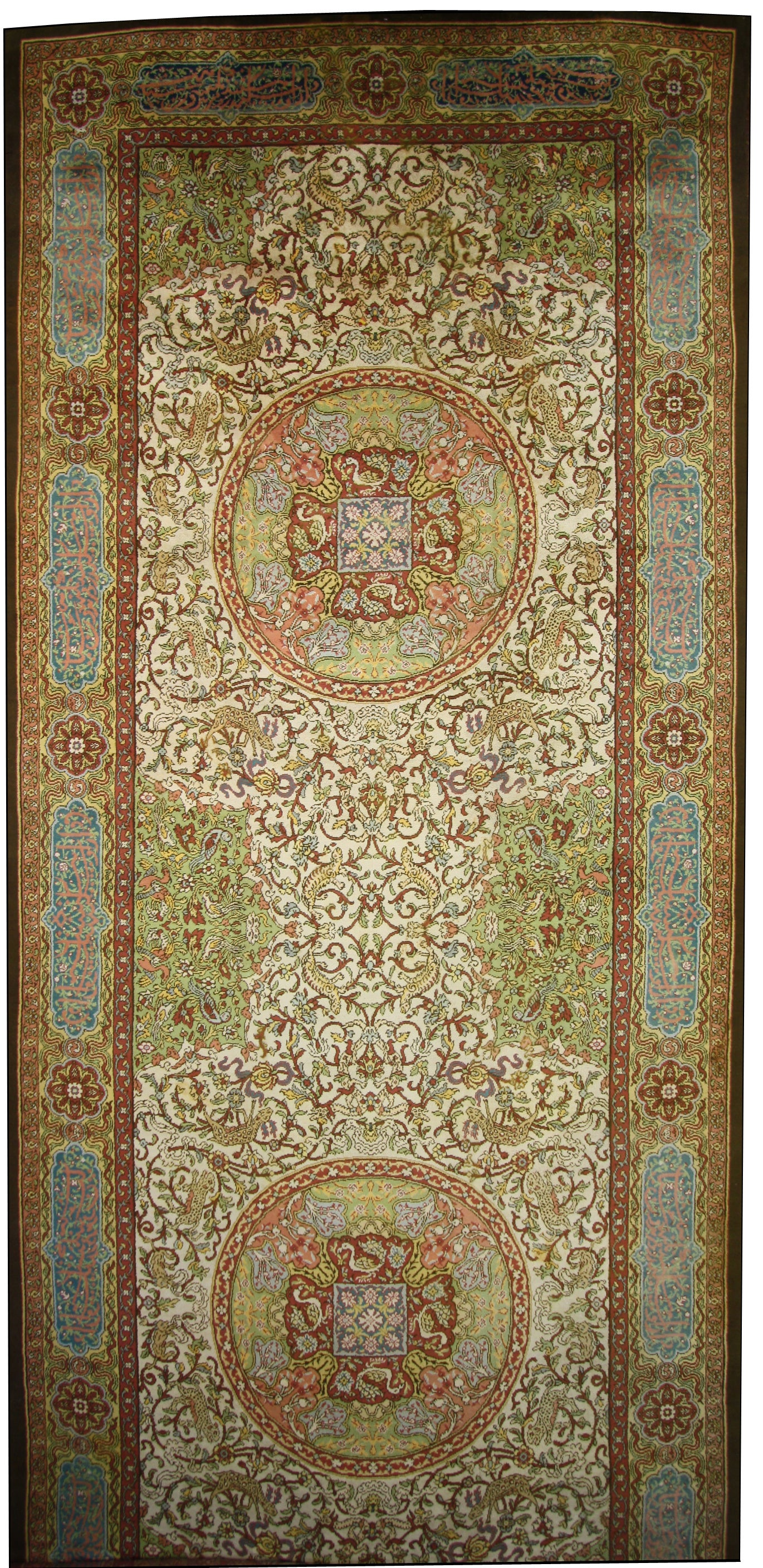 Antique Austrian Savonnerie Palace Size Rug with Aristocratic Medieval Style