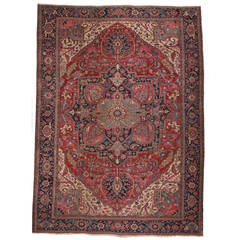 Antique Persian Serapi with Traditional Modern Design
