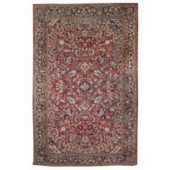 Antique Persian Mahal Area Rug with Traditional Design