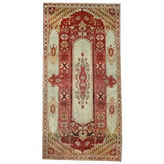 Antique Turkish Oushak Rug with Modern Design in Jewel-Tone Colors
