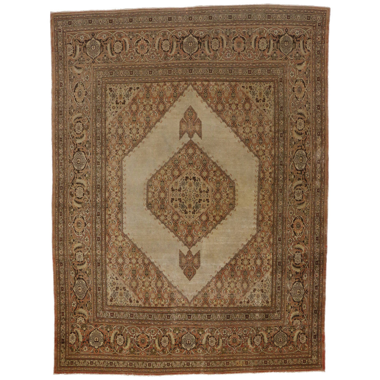 Haji khalili antique persian tabriz area rug with modern for Modern area rugs for sale