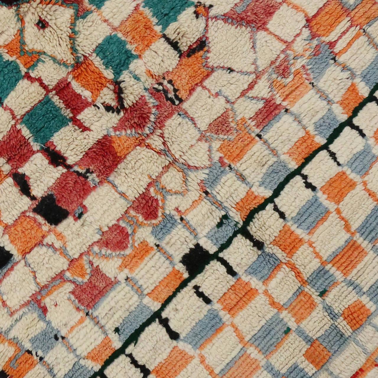 Vintage Berber Moroccan Rug For Sale At 1stdibs