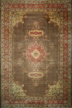 Antique Romanian Palace Size Rug with Rustic Victorian Style