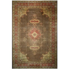 Antique Romanian Palace Size Rug with Victorian Style