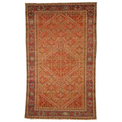 Antique Persian Mishan Malayer Rug with Northwestern Arts and Crafts Style