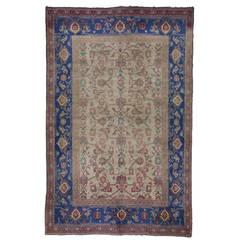Antique Cotton Indian Agra Carpet