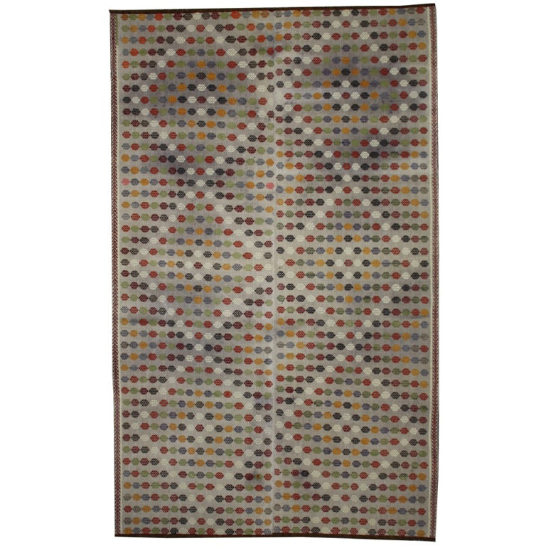 Vintage Turkish Flatweave Kilim Rug With Modern Design And Aesthetic 1