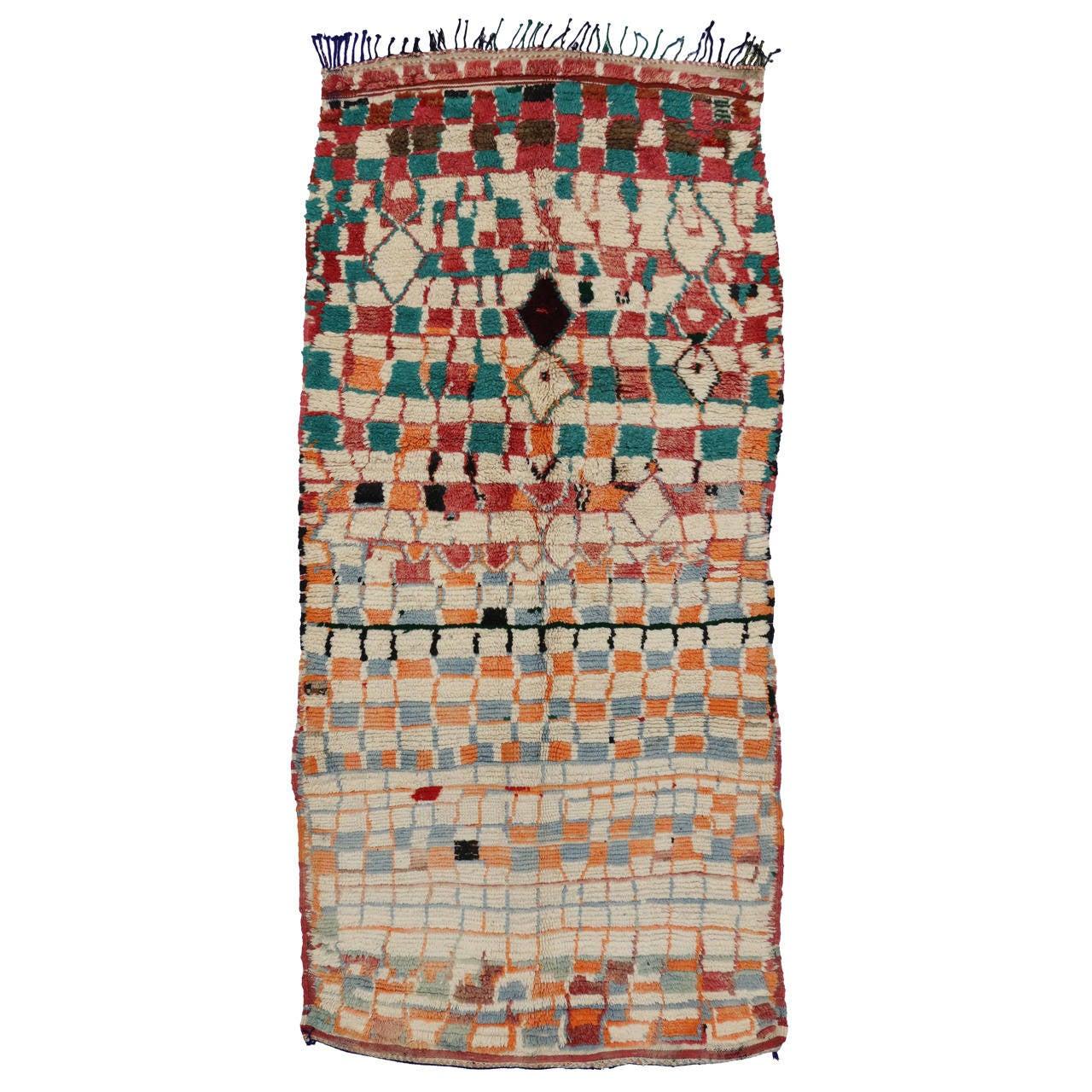 Vintage Berber Moroccan Rug