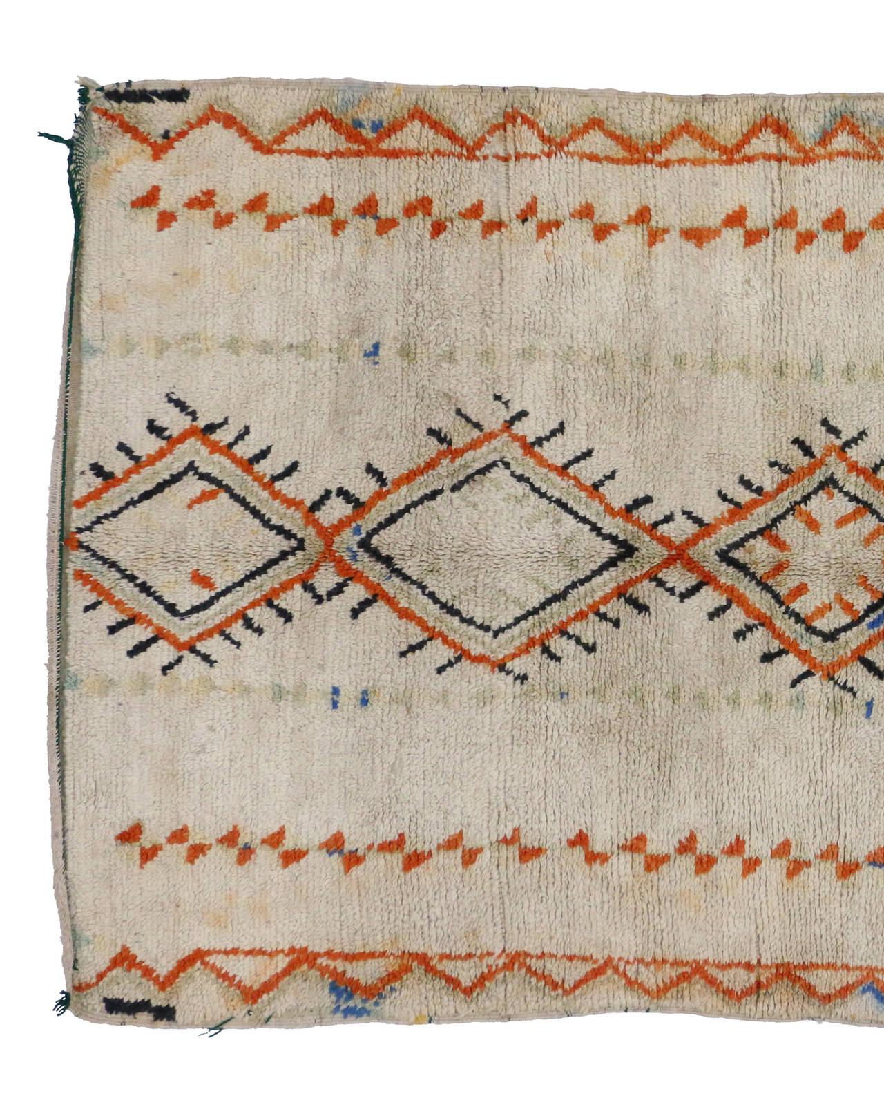 Vintage Berber Moroccan Rug, 04'06