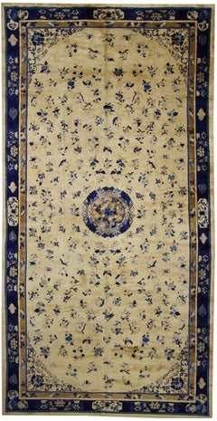 Late 19th Century Chinese Peking Rug with Chinoiserie Style