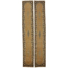 Pair of Vintage Persian Kerman Hallway Runners with Hollywood Regency Style