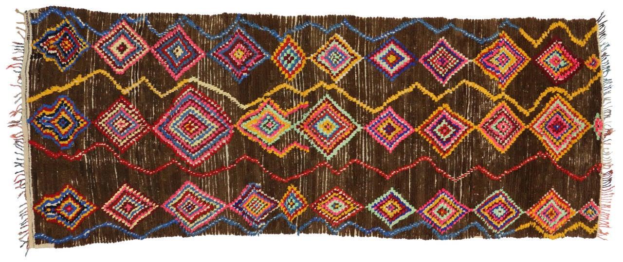 Vintage Berber Moroccan Carpet Runner 04 04 Quot X 11 04 Quot Image 4