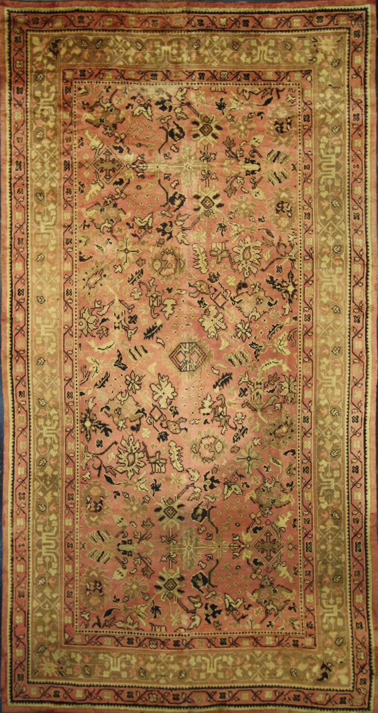 Antique Irish Donegal Rug With Mid