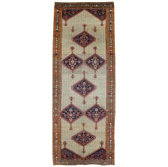Antique Persian Malayer Gallery Rug, Wide Persian Runner