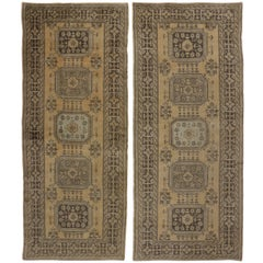 Pair of Vintage Turkish Oushak Hallway Runners with Gustavian or French Style