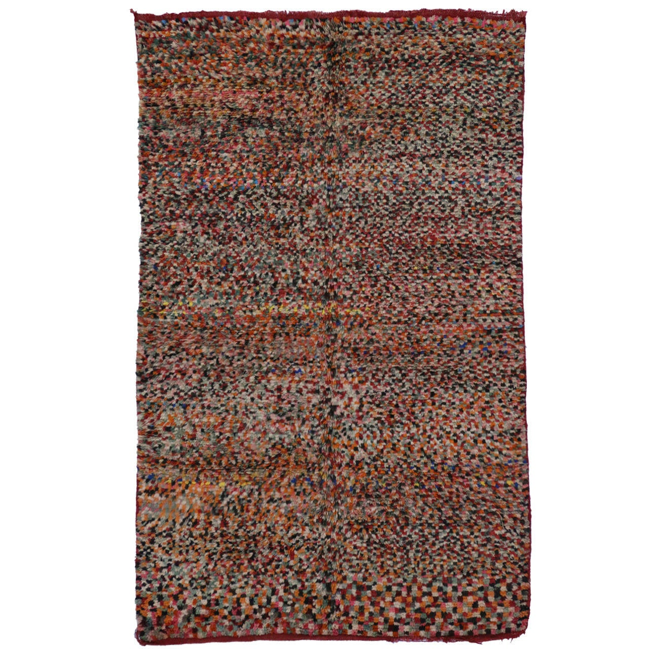 Mid-Century Modern Berber Moroccan Rug At 1stdibs