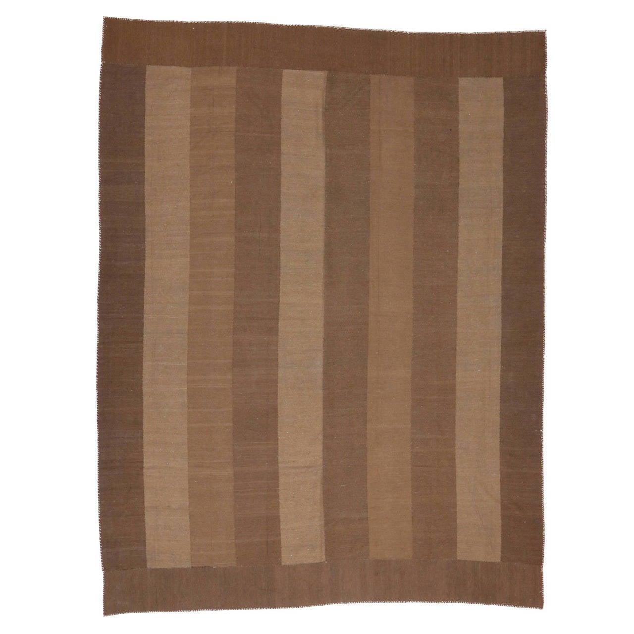 Vintage Persian Oversize Modern Kilim with Minimalist Style, Flatweave Kilim Rug