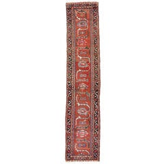 Distressed Antique Persian Hamadan Carpet Runner
