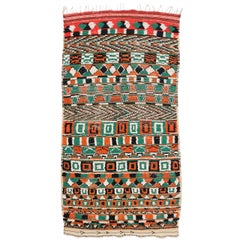 Vintage Berber Moroccan Rug with Postmodern Tribal Style, Shag Hallway Runner
