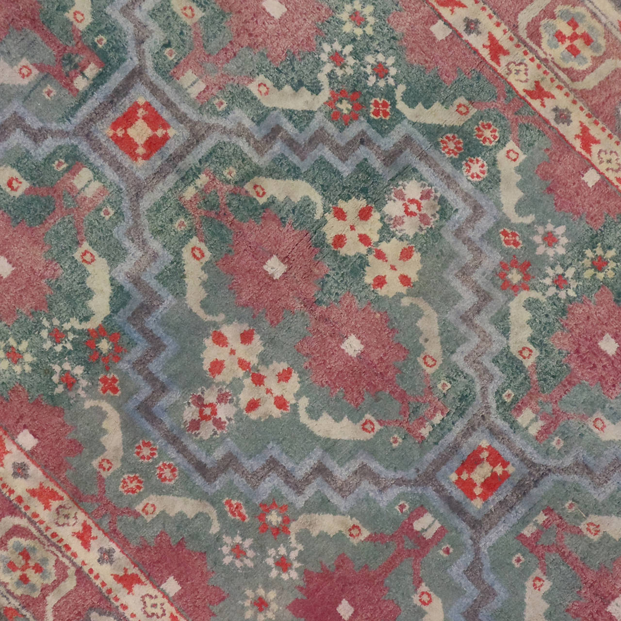British India Rug: Antique Indian Cotton Agra Rug For Sale At 1stdibs
