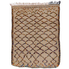 Berber Moroccan Rug with Latticework Design