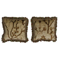 """Vintage Pair of French Passementerie Pillows, 20"""" x 20"""""""