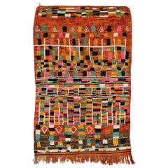 Berber Moroccan Rug with Art Deco Style and Modern Design
