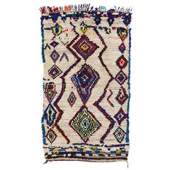 Vintage Berber Moroccan Rug with Contemporary Abstract Design