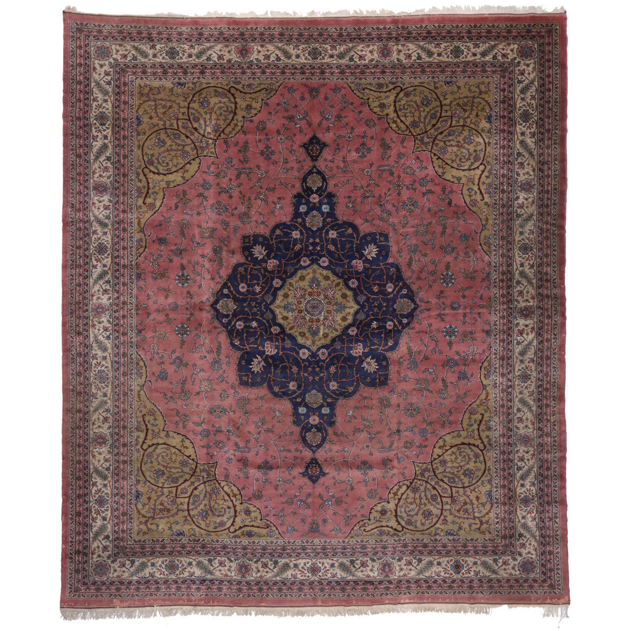 Antique Turkish Sparta Rug With Arabesque Art Nouveau Style 1