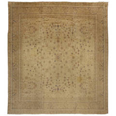 Antique European Rug with Light Colors and Traditional Style