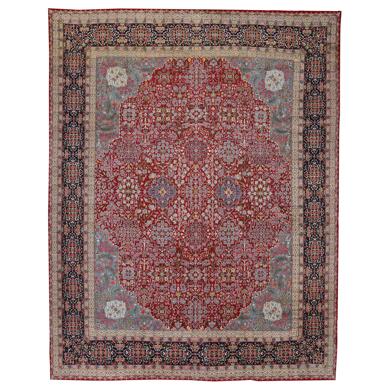 Mid Century Modern Persian Kerman Rug For Sale At 1stdibs