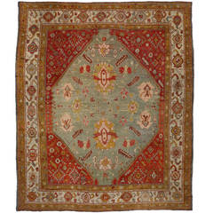 Antique Turkish Oushak Oversize Rug with Traditional Style and Modern Design