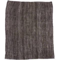 Türkischer Vintage Flachgewebe Kilim Teppich im Minimalismus-Stil und Industrial Design