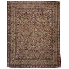 Antique Persian Kermanshah Palace Rug with Old World Arts and Crafts Style