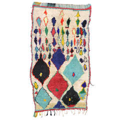 Mid-Century Modern Moroccan Rug with Abstract Tribal Designs