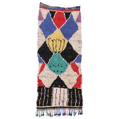 Mid-Century Modern Berber Moroccan Rug with Boho Chic Tribal Style