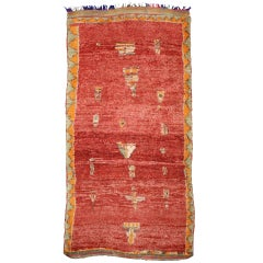 Vintage Moroccan Rug with Tribal Style, Berber Red Moroccan Rug