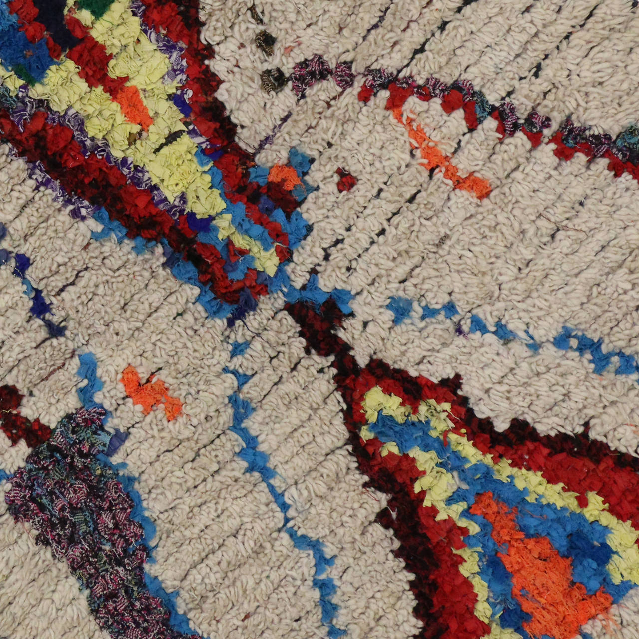 Boho Chic Berber Moroccan Rug With Contemporary Abstract