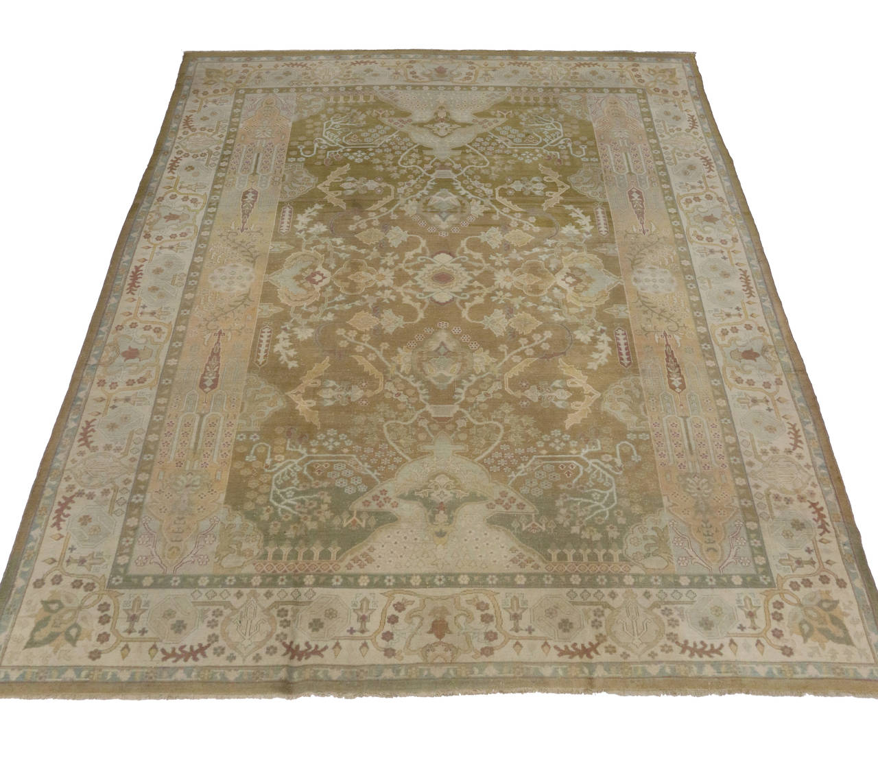 neutral color area rugs antique indian agra area rug in