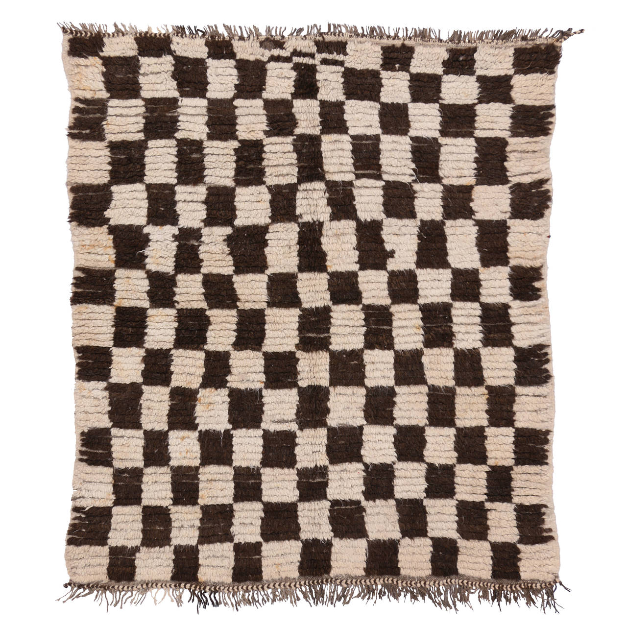 Design Retro Rug mid century modern berber moroccan rug with retro checkerboard design 1