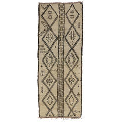 Vintage Judaica Moroccan Wide Runner with Star of David