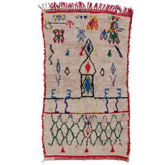 Berber Moroccan Rug with Abstract Tribal Design
