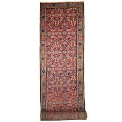 Antique Persian Tabriz Carpet Runner with Modern Traditional Style