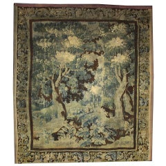 Mid-18th Century Louis XIV Style Antique French Aubusson Verdure Tapestry